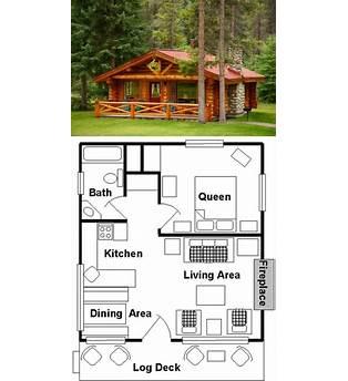 One Room Log Cabin Floor Plans