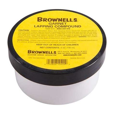 Onsale Garnet Lapping Compounds Brownells