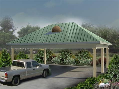 open air carport plans Image