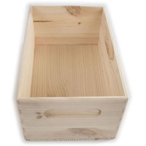 Open wooden box Image