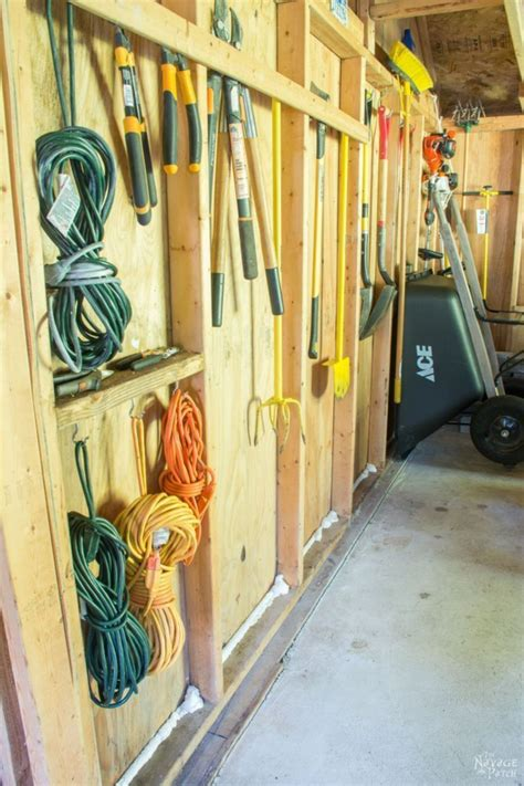 Organizing a storage shed Image
