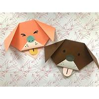 Origami paper folding instruction