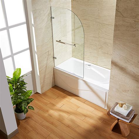 "Orion 34"" x 58"" Hinged Curved Bathtub Door"
