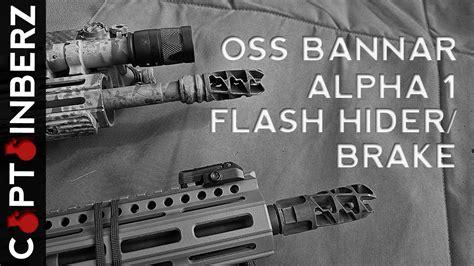 Oss Bannar Alpha 1 Muzzle Brake Flash Hider 5 56