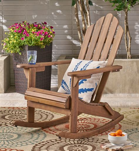 Outdoor adirondack rocking chairs Image