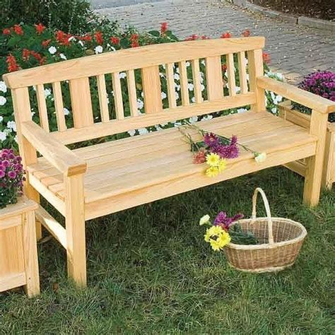 Outdoor bench plans woodworking Image