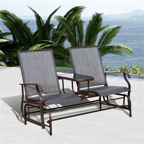 Outdoor bench rocker Image