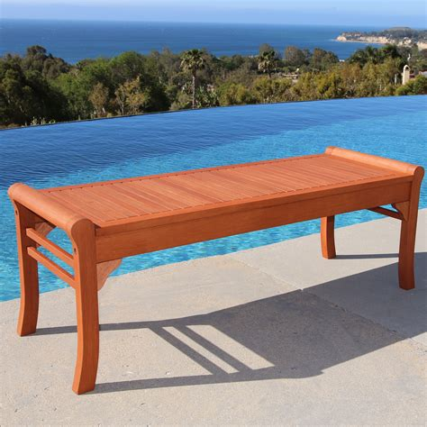 Outdoor bench wood Image