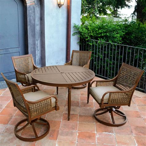 Outdoor chair with table Image
