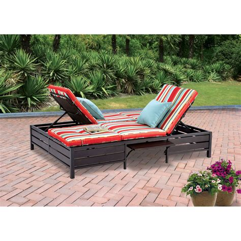 Outdoor double chaise lounger Image