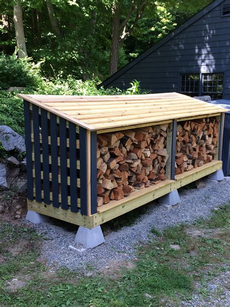 Outdoor firewood storage plans Image