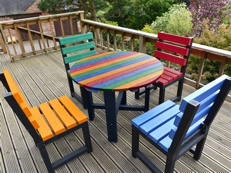 Outdoor furniture patio sets recycled plastic Image