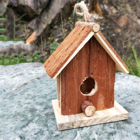 Outdoor hanging bird houses Image