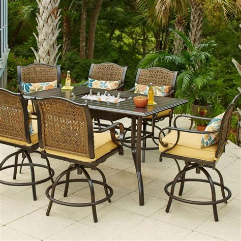 Outdoor high top table and chairs Image