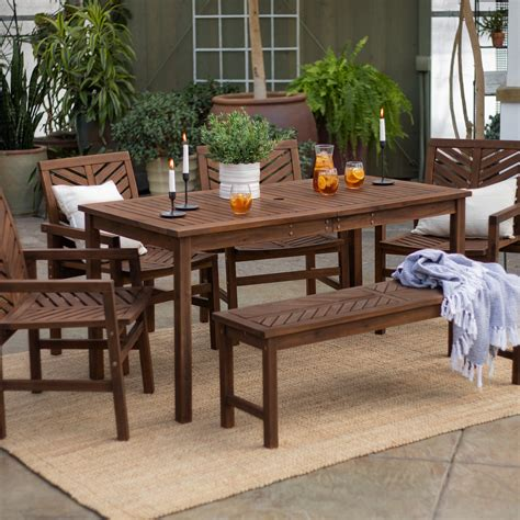 Outdoor patio dining set Image
