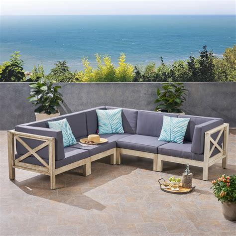 Outdoor sofa wood Image