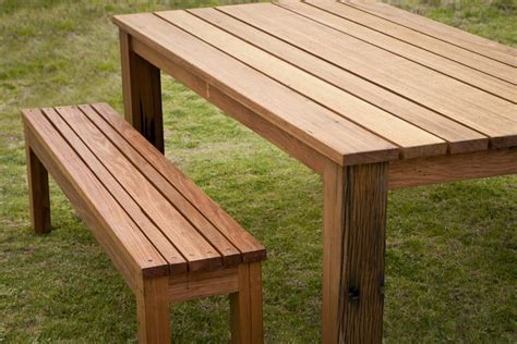 Outdoor table bench seats Image