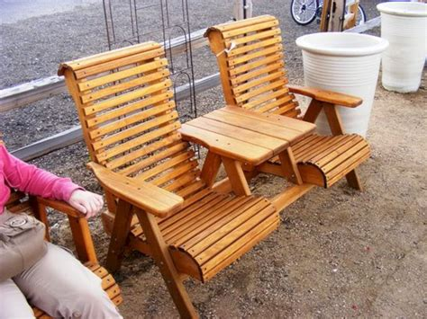 Outdoor wood furniture plans Image