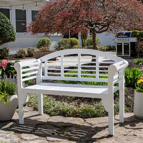 Outdoor wooden bench kits Image