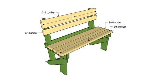 Outdoor wooden bench plans free Image