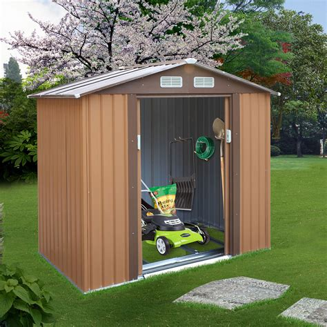 Outdoor wooden sheds Image
