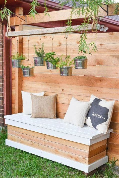 Outside storage bench diy Image