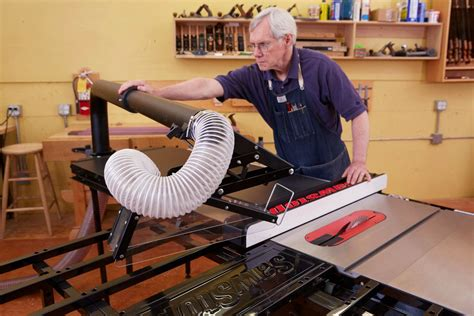Overarm table saw dust collection Image
