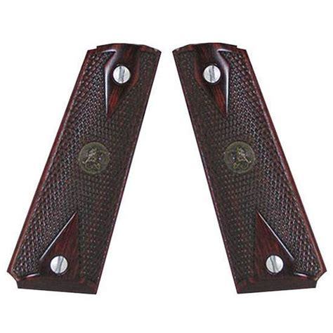Pachmayr 1911 American Legend Checkered Grips 1911 Grips Halfcheckered Rosewood