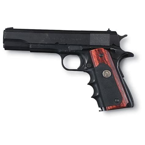 Pachmayr Colt 1911 Grips Rosewood And Rubber