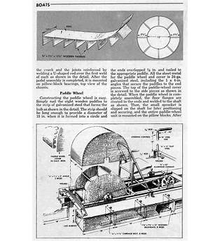 Paddle Wheel Boat Plans Free