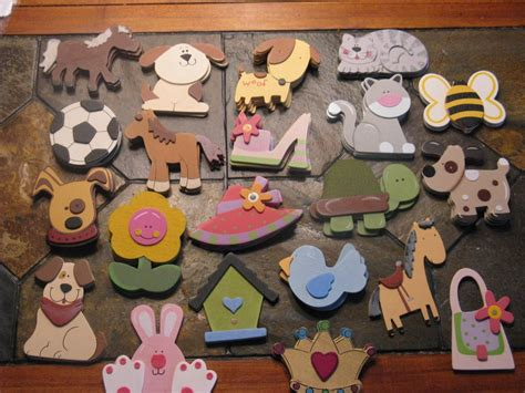 Painted wood shapes Image