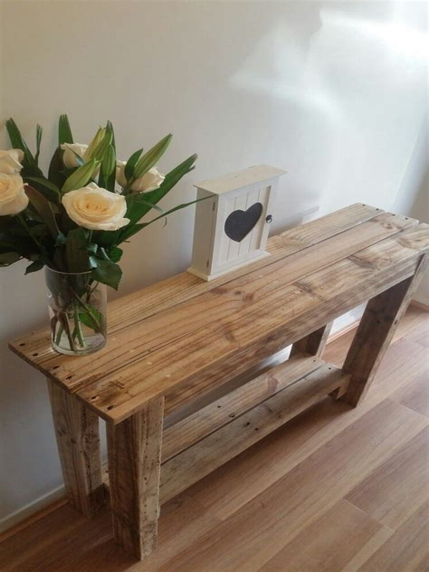 Pallet Hallway Table Plans