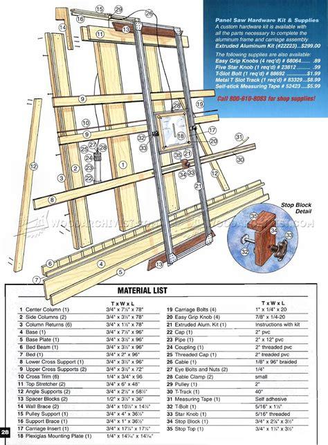Panel saw woodworking plan Image