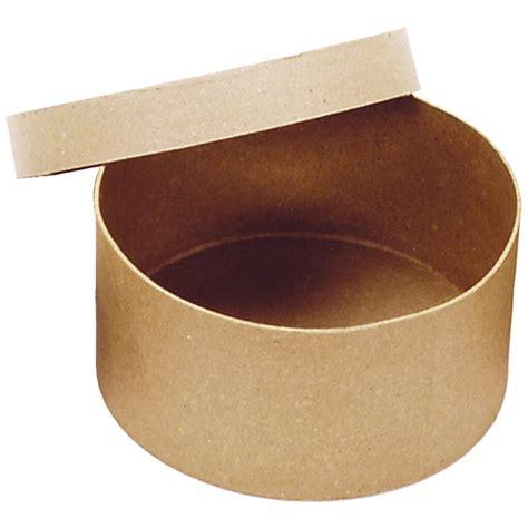 Paper mache round box Image