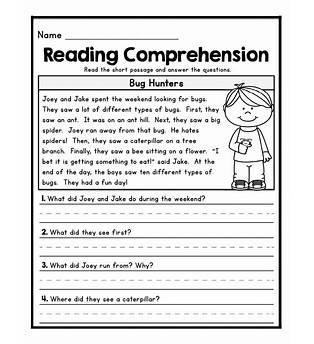 Paragraph Comprehension Exercises