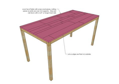 Parson table woodworking plans Image