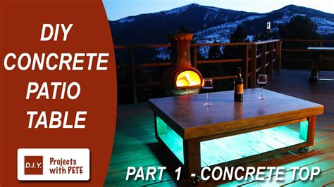 Part 1 how to make a concrete coffee table for the patio concrete top Image