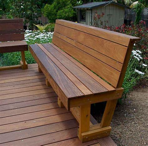 Patio bench designs Image