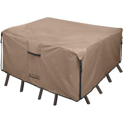 Patio chairs and table covers Image
