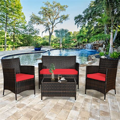 Patio chairs and tables Image