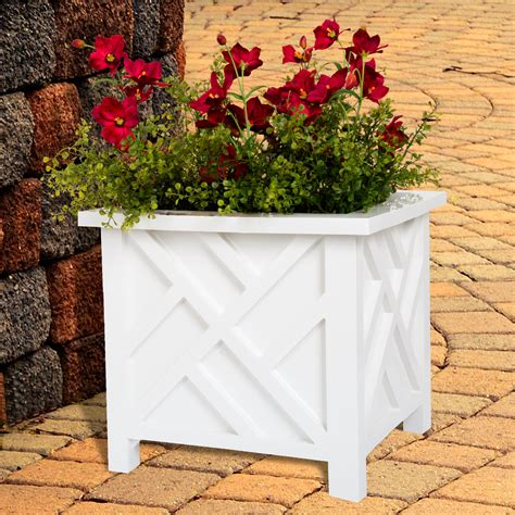 Patio flower boxes Image