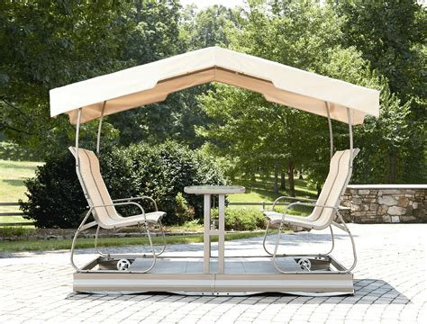 Patio gliders with canopy Image