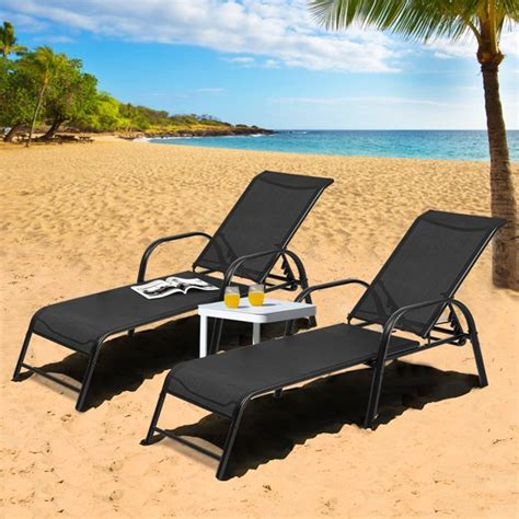 Pavilion Reclining Chaise Lounge (Set of 2)