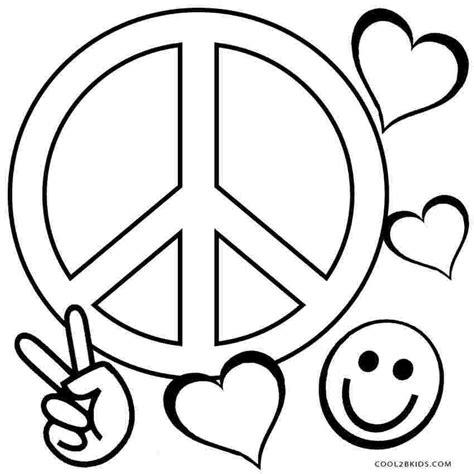 Peace Zeichen Malvorlage