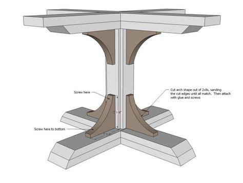 Pedestal table plans Image