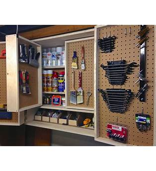 Pegboard Tool Storage Cabinet Plans