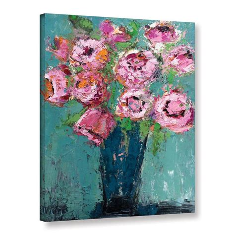 Peonies By Michelle Rivera Painting Print On Wrapped