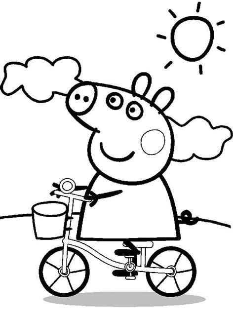 Peppa Wutz Ausmalbilder Fahrrad