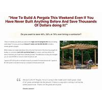 Pergola & sun trellis plans insane conversions with 1 click upsells! online tutorial