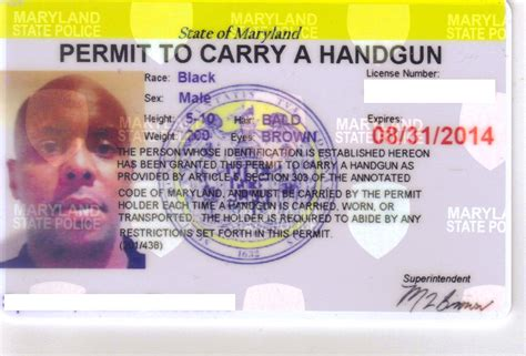 Permit To Carry A Handgun In Maryland